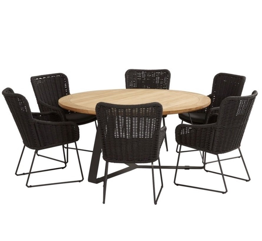 Wing  Basso dining tuinset 7-delig 160cm rond 4 Seasons Outdoor