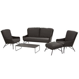 4 Seasons Outdoor Wing stoel-bank loungeset 5-delig rope 4 Seasons Outdoor
