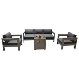 Garden Impressions Romero Faro stoel-bank loungeset 4-delig aluminium