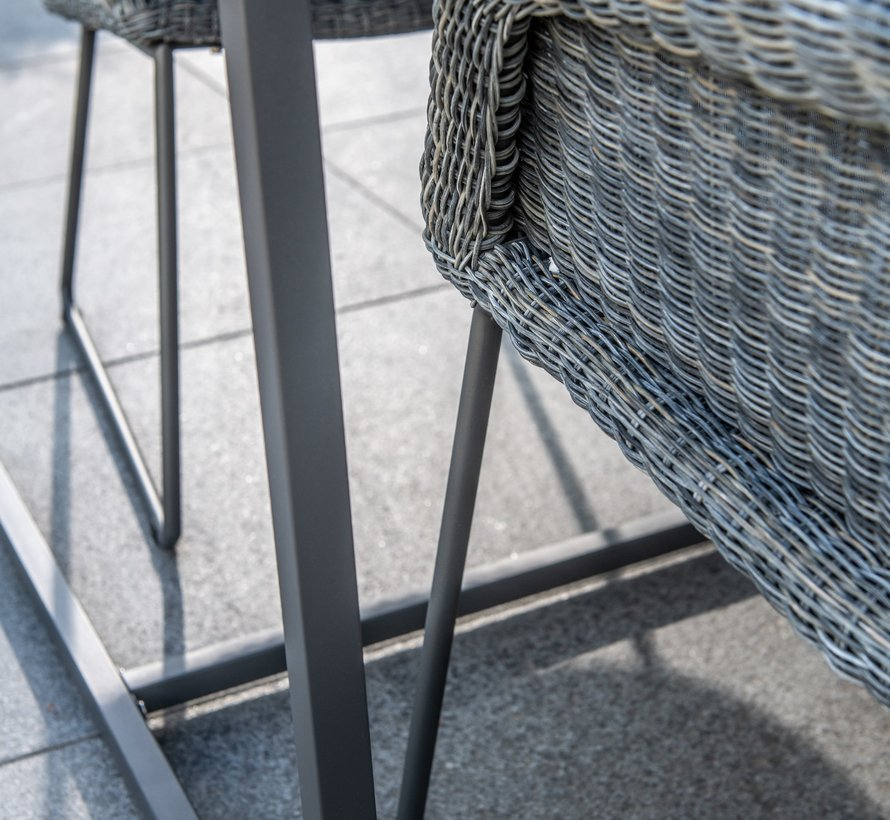 Samoa dining tuinstoel Ecoloom charcoal 4-Seasons Outdoor