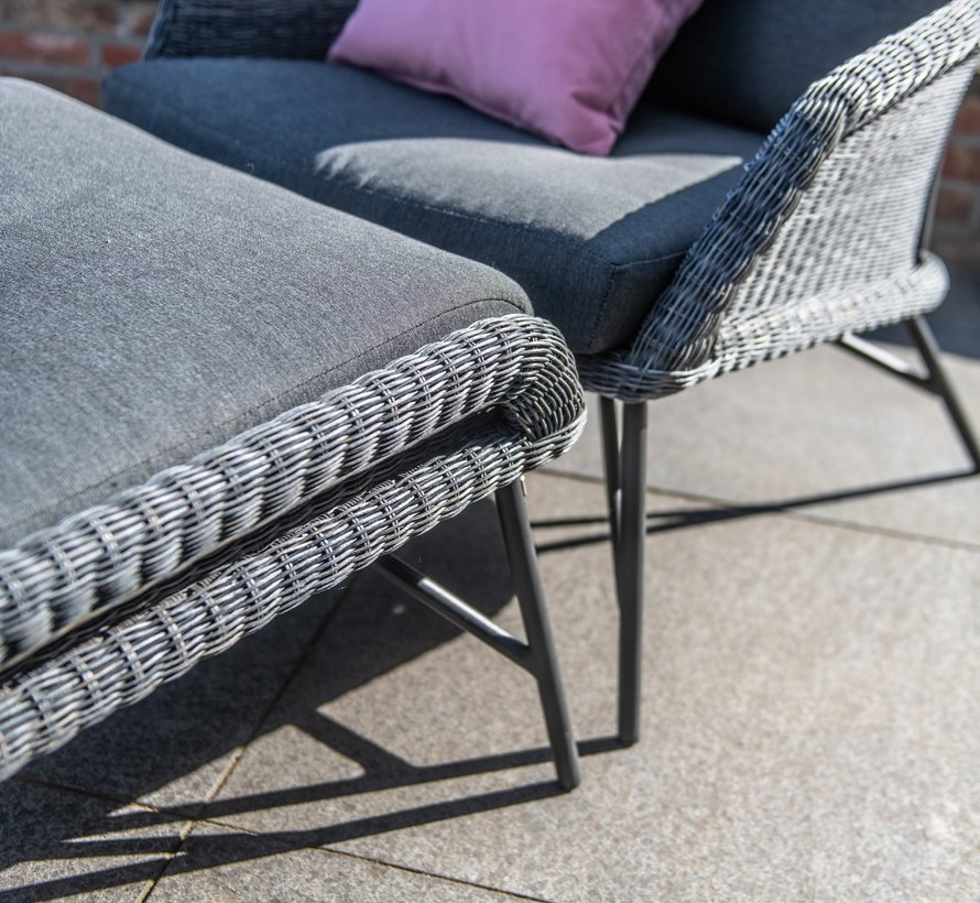 Samoa 3-zitsbank Ecoloom charcoal 4-Seasons Outdoor
