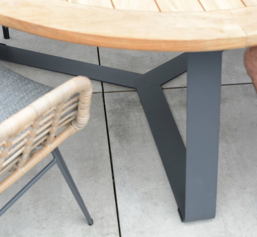 Samoa Basso dining tuinset 7-delig 160cm rond 4 Seasons Outdoor
