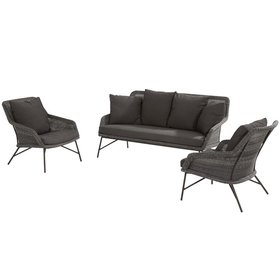 4 Seasons Outdoor Samoa stoel-bank loungeset 3-delig 4-Seasons Outdoor