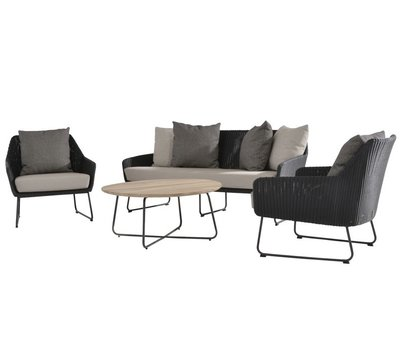 4 Seasons Outdoor Avila stoel-bank loungeset 4-delig 4 Seasons Outdoor