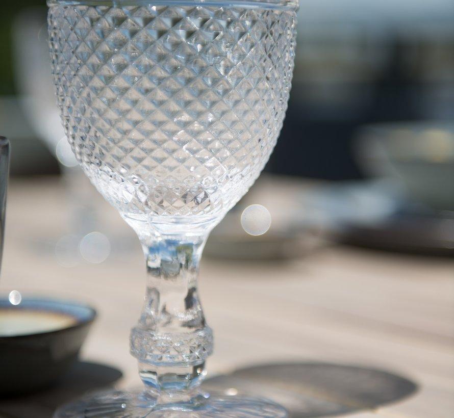Derby dining tuintafel Ø 130xH75 cm aluminium teakhout