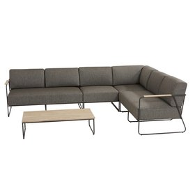 4 Seasons Outdoor Coast hoek loungeset 5-delig aluminium 4 Seasons Outdoor