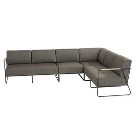 4 Seasons Outdoor Coast hoek loungeset 4-delig aluminium 4 Seasons Outdoor