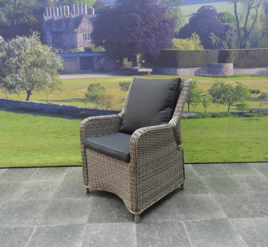 Bilbao Bergamo dining tuinset 180x100xH75 cm 5-delig grijs verstelbaar