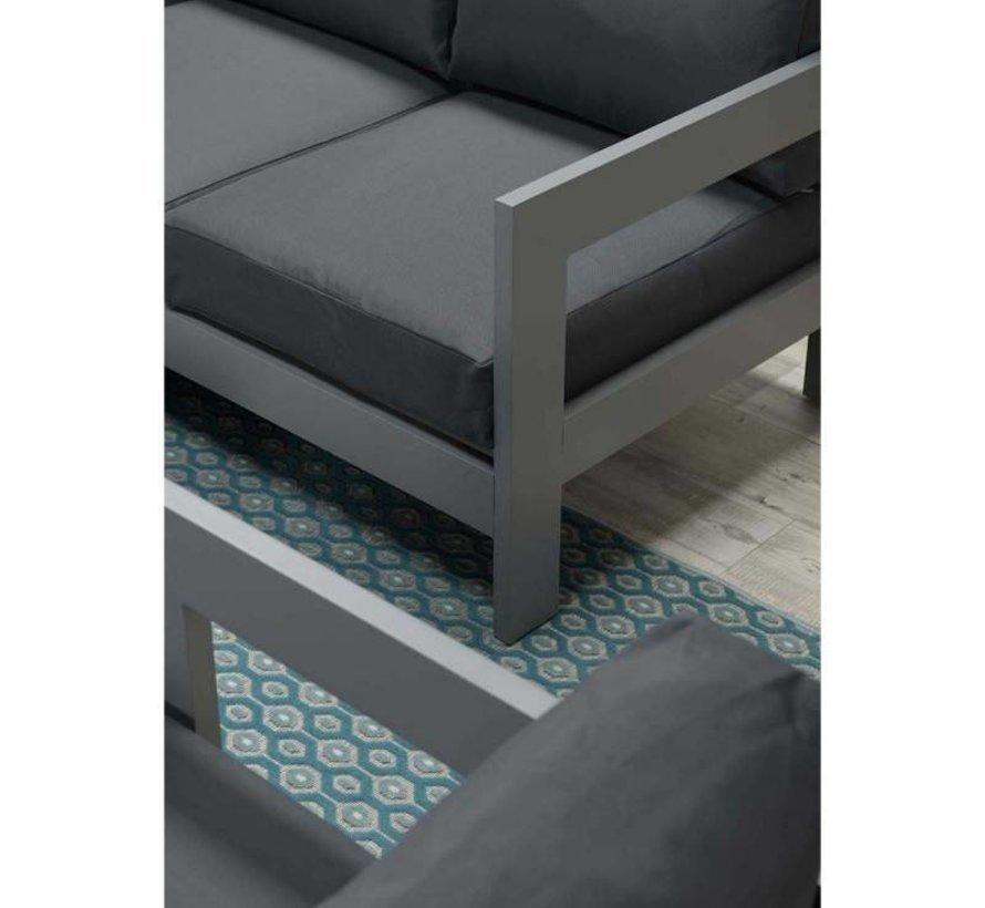 Romero Faro stoel-bank loungeset 4-delig aluminium