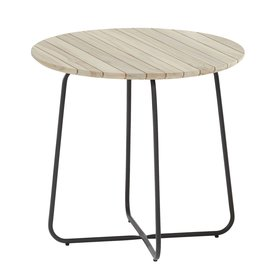 4 Seasons Outdoor Axel bijzettafel 45xH55 cm rond aluminium teak 4-Seasons Outdoor