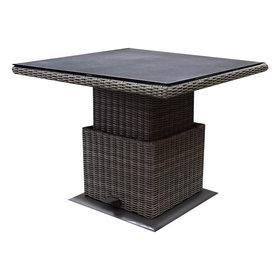 AVH-Collectie Miami lounge-diningtafel 90x90xH45-65 cm in hoogte verstelbaar grijs