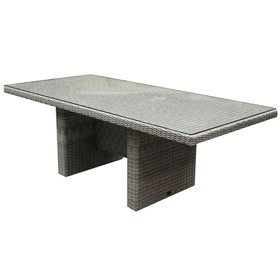 AVH-Collectie Menorca dining tuintafel 220x100xH75 cm wit grijs
