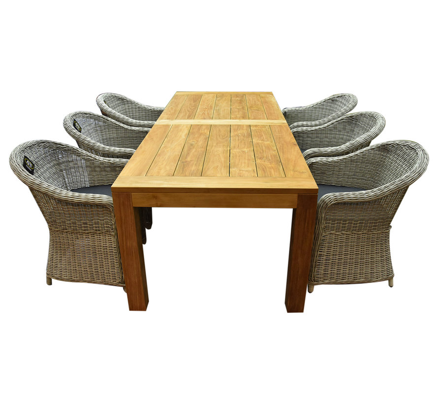 Chester Krista dining tuinset 240x100xH77,5 cm wit