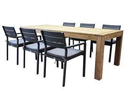 AVH-Collectie Barolo Krista dining tuinset 240x95x77,5h cm antraciet
