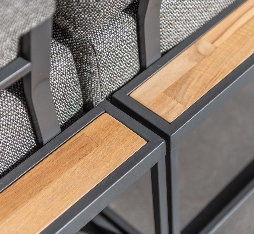 Patio hoek loungeset 5-delig aluminium 4 Seasons Outdoor