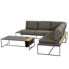 4 Seasons Outdoor Patio hoek loungeset 4-delig aluminium 4 Seasons Outdoor