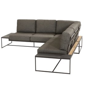 4 Seasons Outdoor Patio hoek loungeset 3-delig aluminium 4 Seasons Outdoor