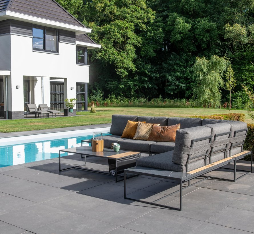 Patio hoek loungeset 3-delig aluminium 4 Seasons Outdoor