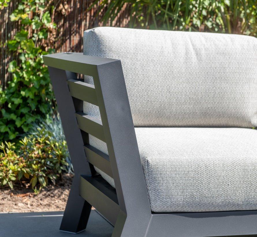 Meteoro hoek loungeset 4-delig antraciet 4 Seasons Outdoor