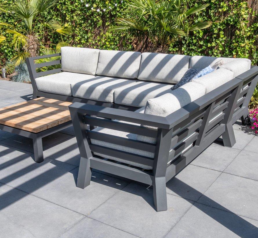 Meteoro hoek loungeset 3-delig antraciet 4 Seasons Outdoor