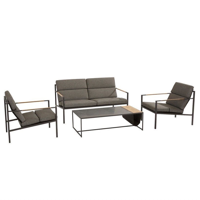 Trentino stoel-bank loungeset 4-delig 4 Seasons Outdoor