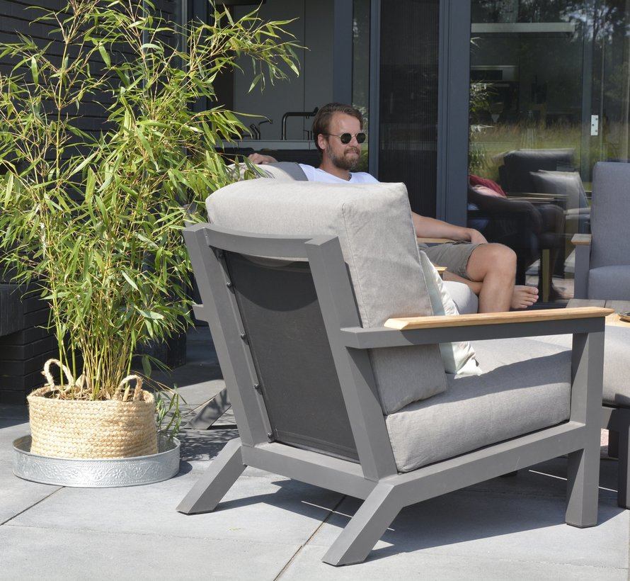 Capitol lounge tuinstoel antraciet 4-Seasons Outdoor