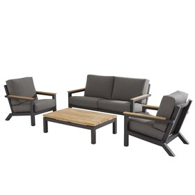 4 Seasons Outdoor Capitol stoel-bank loungeset 4-delig 4 Seasons Outdoor