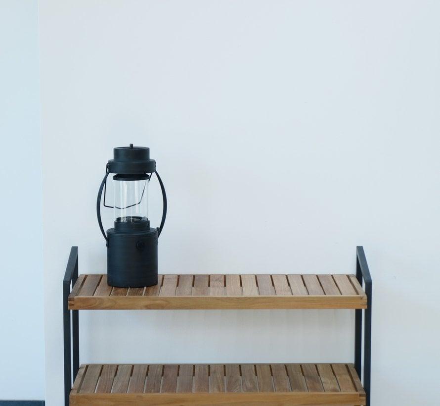 Rack tuinrek met 3 planken 90x40xH80 cm antraciet teak 4-Seasons Outdoor