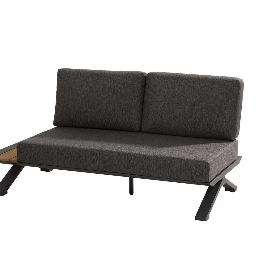 Nostra hoek loungeset 3-delig matt carbon Taste 4SO