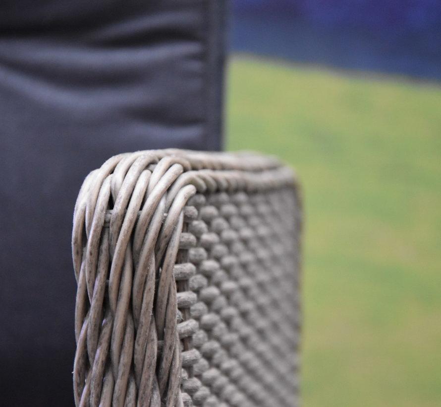 Empoli Krista dining tuinset 240x100xH77,5 cm 7-delig grijs verstelbaar