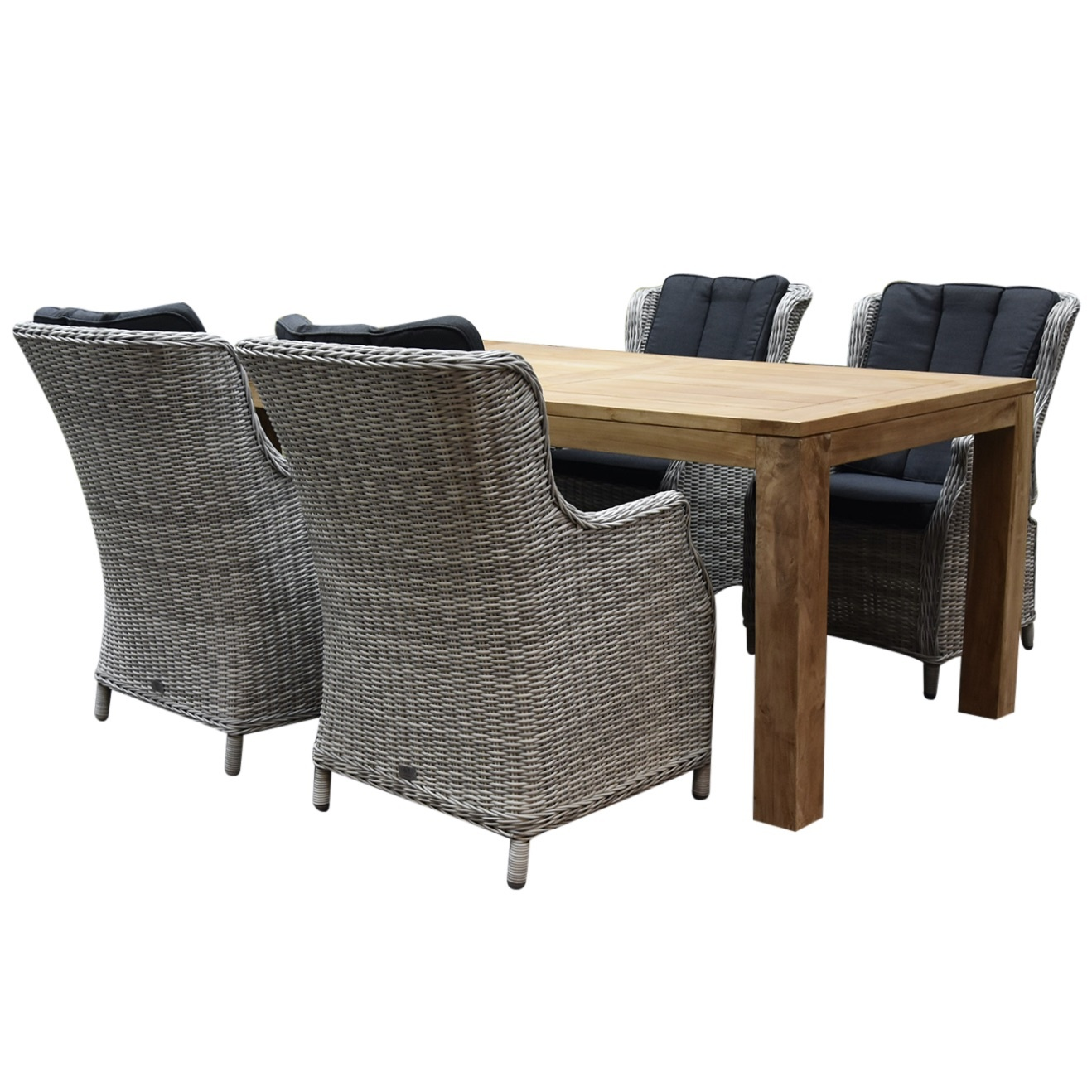 Darwin Krista dining tuinset 180x95xH77,5 cm 5-delig wit