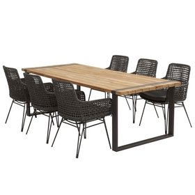 4 Seasons Outdoor Opera Alto dining tuinset 240x100xH75 cm 7-delig 4 Seasons Outdoor