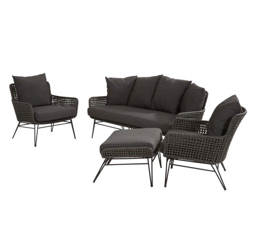 Opera stoel-bank loungeset 4-delig Taste 4SO
