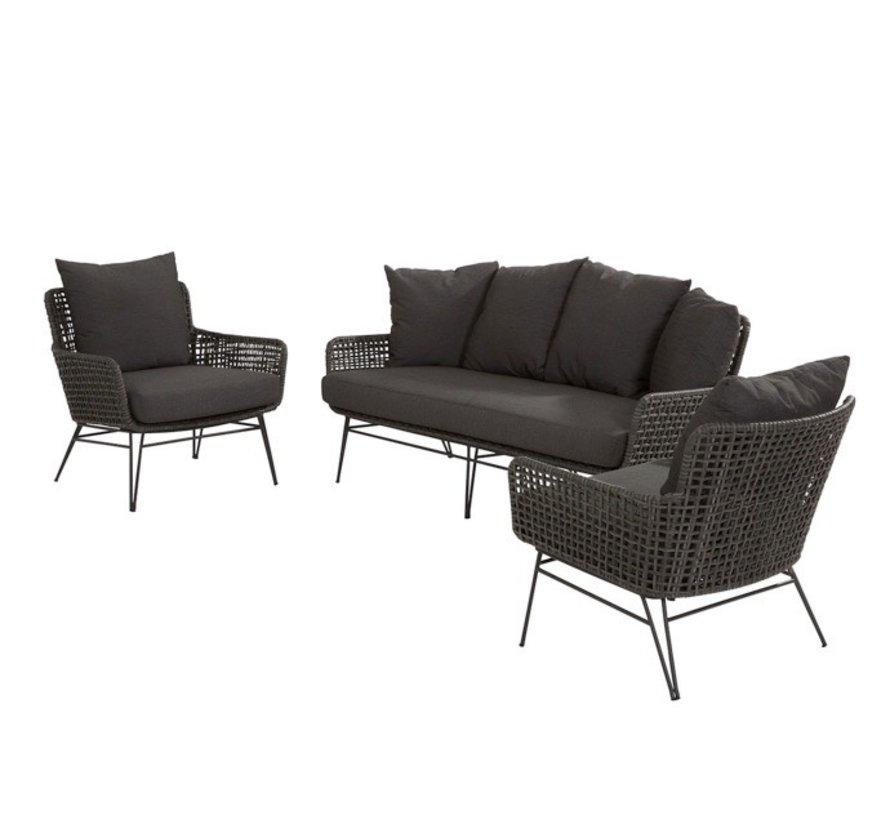 Opera stoel-bank loungeset 3-delig Taste 4SO