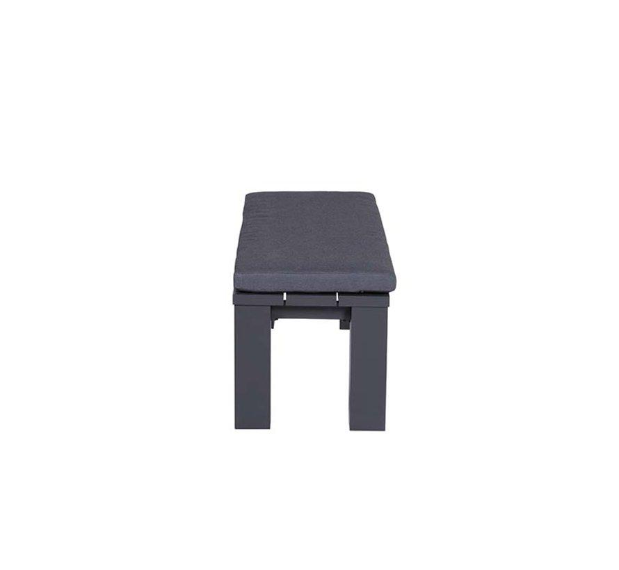 Cube tuinbank 115,5x43xH40 cm aluminium antraciet