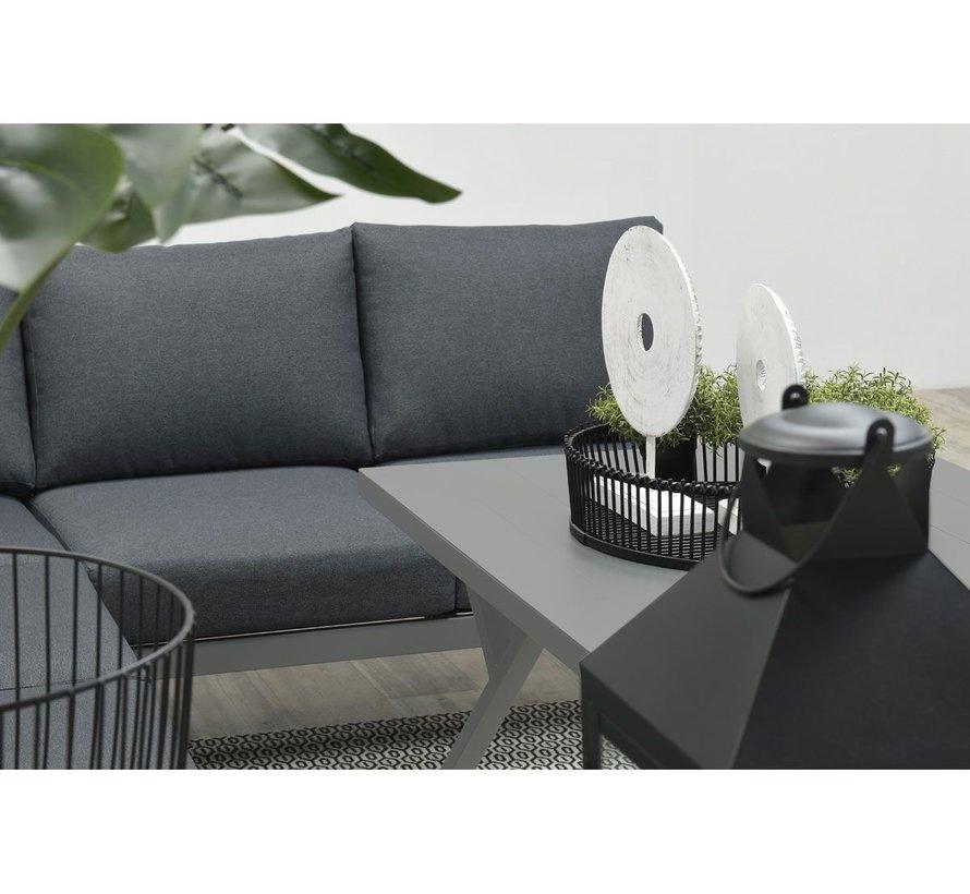 Rondo hoek dining loungeset 6-delig aluminium antraciet