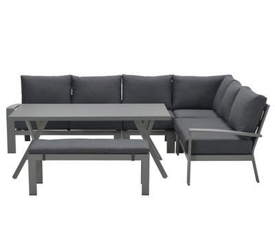 Garden Impressions Rondo hoek dining loungeset 6-delig aluminium antraciet