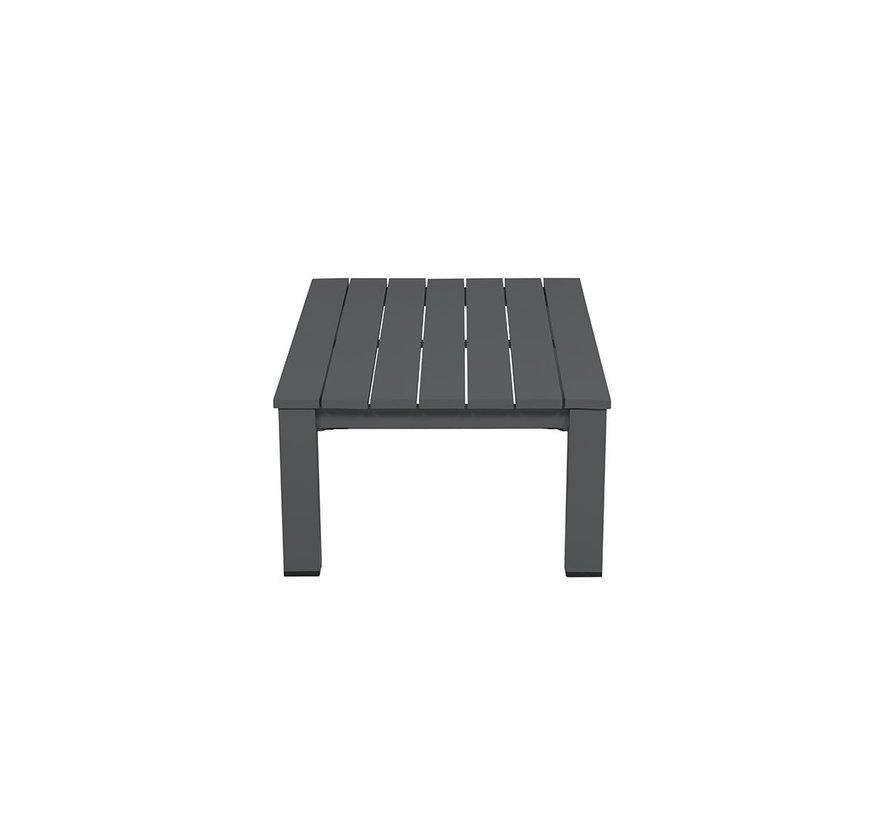 Lincoln lounge tuintafel 140x70xH40,5 cm aluminium antraciet