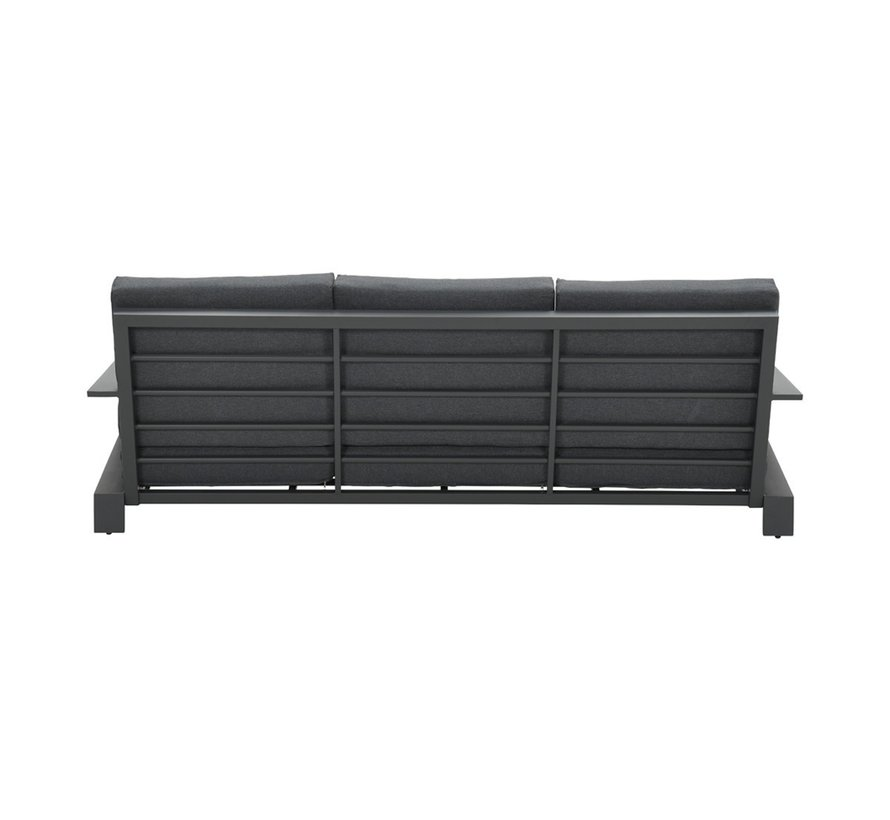 Lincoln 3-zitsbank aluminium antraciet