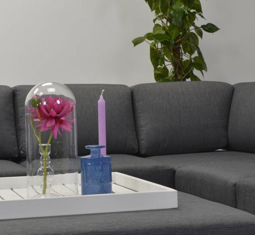 cube hoek loungeset 4-delig wit aluminium