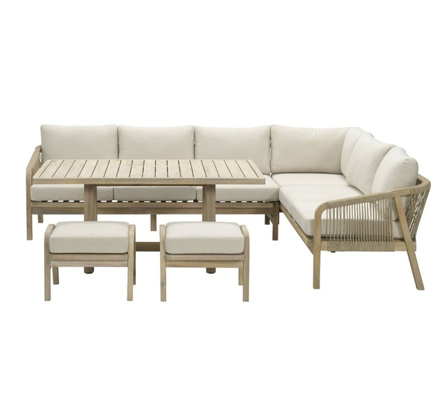 Santos dining loungeset 3-delig acacia rechts