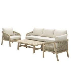 Garden Impressions Santos stoel-bank loungeset 4-delig acacia