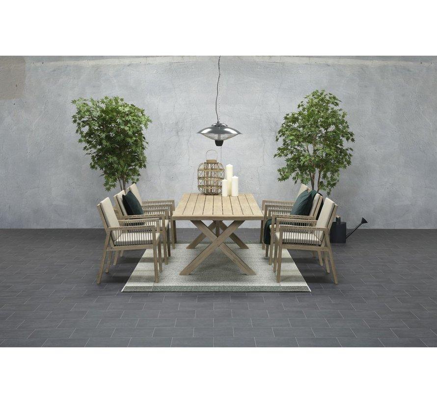 Concordia dining tuinstoel acacia smoke wash