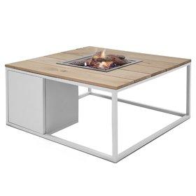 Cosi Fires Cosiloft 100 frame aluminium wit - top teak Cosi Fires