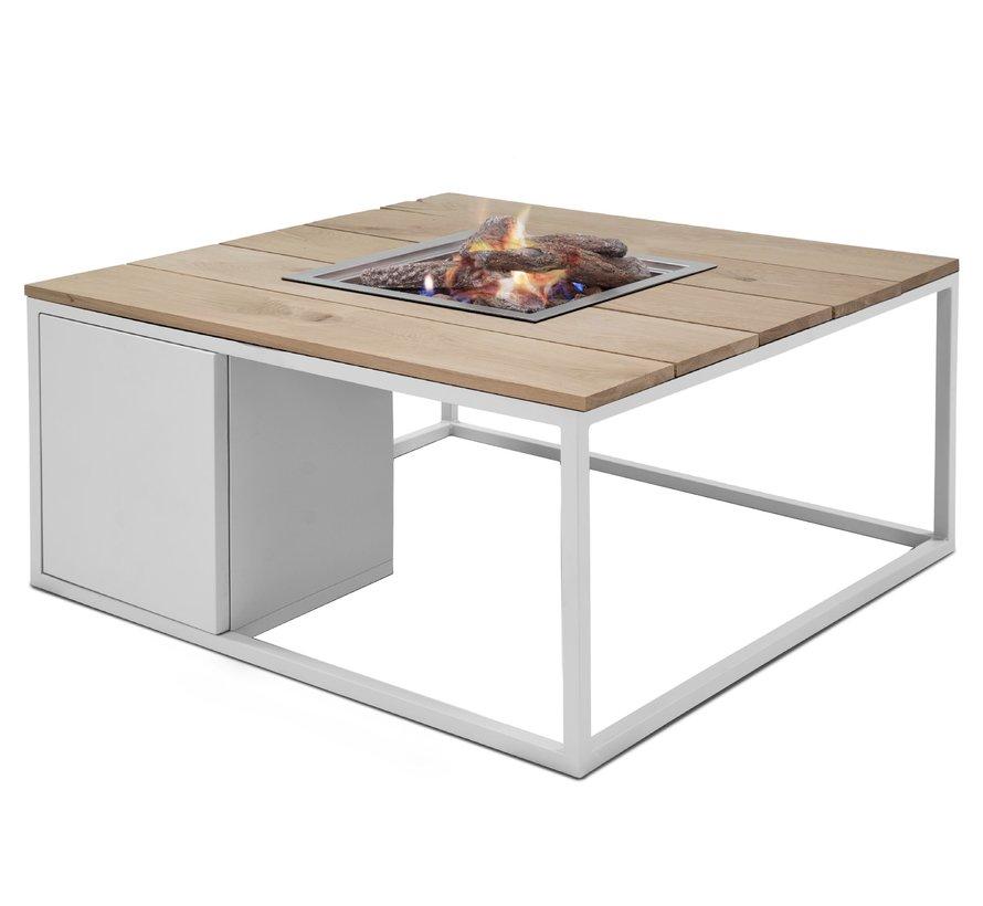 Cosiloft 100 frame aluminium wit - top teak Cosi Fires