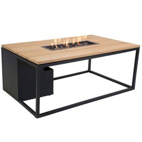 Cosi Fires Cosiloft 120 frame aluminium zwart - top teak Cosi Fires