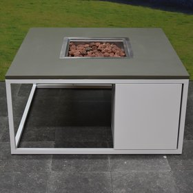 Cosi Fires Cosiloft 100 frame aluminium wit - top army green Cosi Fires - outlet