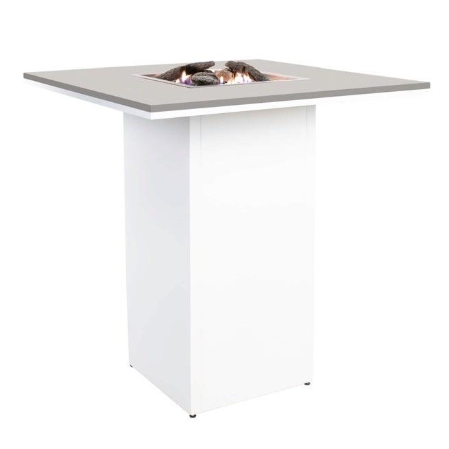 Cosiloft bartafel 100x100xH110 cm wit frame - grey top Cosi Fires