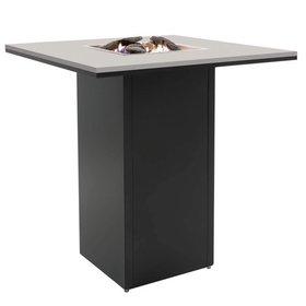 Cosi Fires Cosiloft bartafel 100x100xH110 cm zwart frame - grey top Cosi Fires