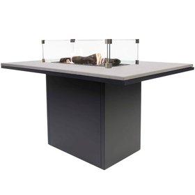 Cosi Fires Cosiloft relax dining vuurtafel 120x80xH67cm zwart grey top Cosi Fires
